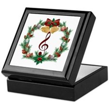 Treble Christmas Music Keepsake Box