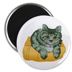 Tabby Cat Drawing Magnet