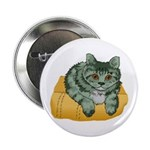 Tabby Cat Drawing Button