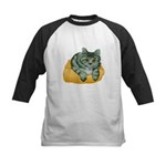 Tabby Cat Drawing Kids Baseball Jersey