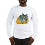 Tabby Cat Drawing Long Sleeve T-Shirt