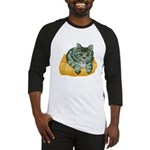 Tabby Cat Drawing Baseball Jersey
