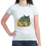 Tabby Cat Drawing Jr. Ringer T-Shirt