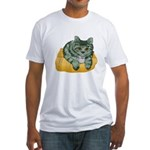 Tabby Cat Drawing Fitted T-Shirt