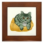 Tabby Cat Drawing Framed Tile
