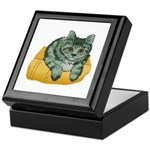 Tabby Cat Drawing Keepsake Box