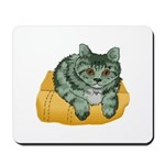 Tabby Cat Drawing Mousepad