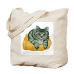 Tabby Cat Drawing Tote Bag