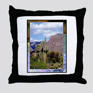 Desert Scene Throw Pillow