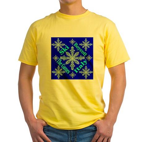 Ski Italy Boycott The Games Yellow T-Shirt