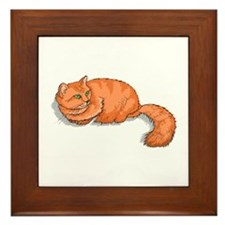 Ginger Cat Framed Tile