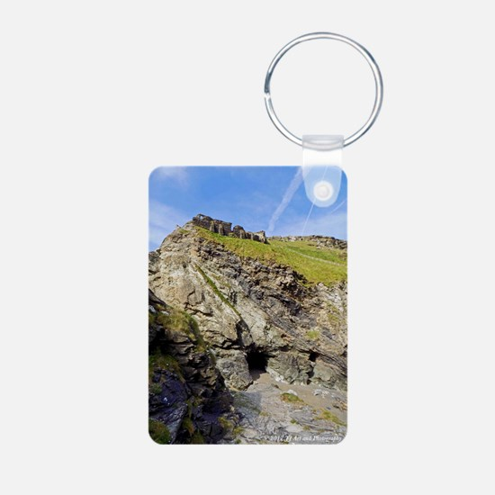 Tintagel Ruins And Caves Aluminum Photo Keychains