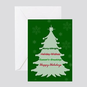 Christmas Not Holiday Greeting Card