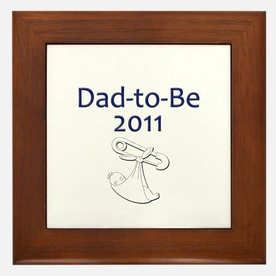 Dad-to-Be 2011 Framed Tile