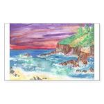 John Muir Beach, CA Monterey Sticker (Rectangle 50