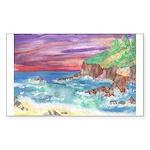 John Muir Beach, CA Monterey Sticker (Rectangle)