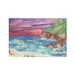 John Muir Beach, CA Monterey Rectangle Magnet (100