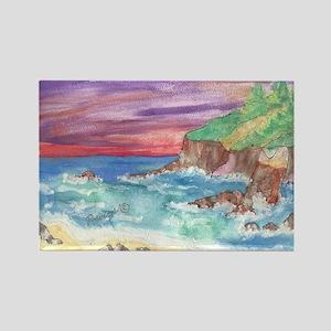 John Muir Beach, CA Monterey Rectangle Magnet