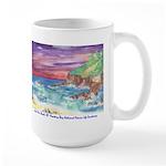 John Muir Beach, CA Monterey Large Mug