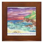 John Muir Beach, CA Monterey Framed Tile