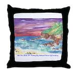 John Muir Beach, CA Monterey Throw Pillow