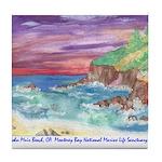 John Muir Beach, CA Monterey Tile Coaster