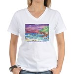 John Muir Beach, CA Monterey Women's V-Neck T-Shir