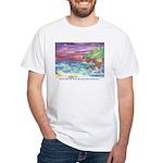 John Muir Beach, CA Monterey White T-Shirt