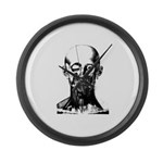 Bougery Face Sketch Large Wall Clock