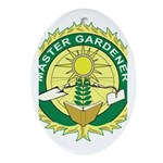 Master Gardener Seal Oval Ornament