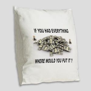 EVERYTHING Burlap Throw Pillow