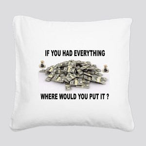 EVERYTHING Square Canvas Pillow