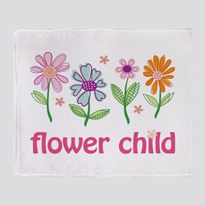 Flower Child Throw Blanket