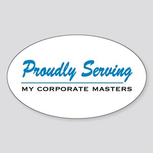 Proudly Serving Oval Sticker