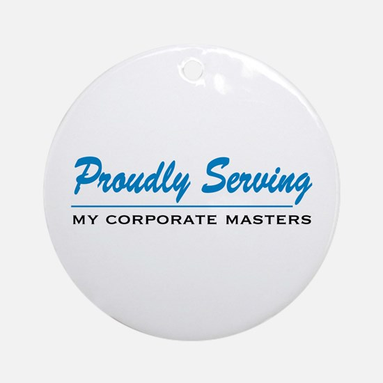 Proudly Serving Ornament (Round)