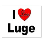 I Love Luge Small Poster