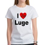 I Love Luge (Front) Women's T-Shirt