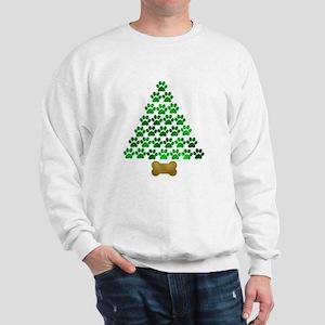 Dog's Christmas Tree Sweatshirt