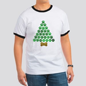 Dog's Christmas Tree Ringer T