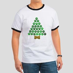 Dog's Christmas Tree Ringer T
