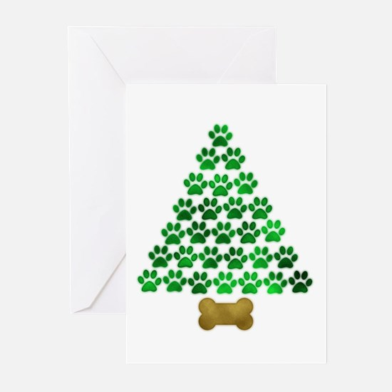 Dog's Christmas Tree Greeting Cards (Pk of 10)