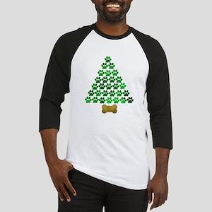 Dog's Christmas Tree Baseball Jersey