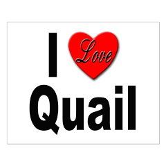 I Love Quail Posters