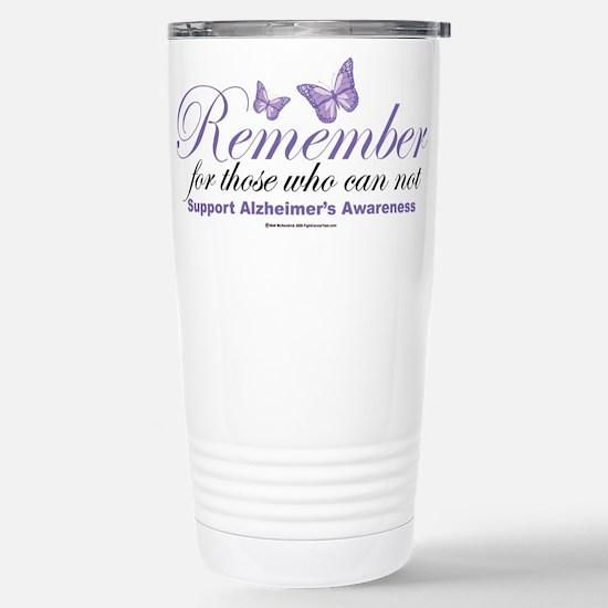 Remember Alzheimer's Stainless Steel Travel Mug