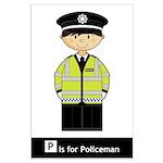 Cute British Policeman Poster (Large)