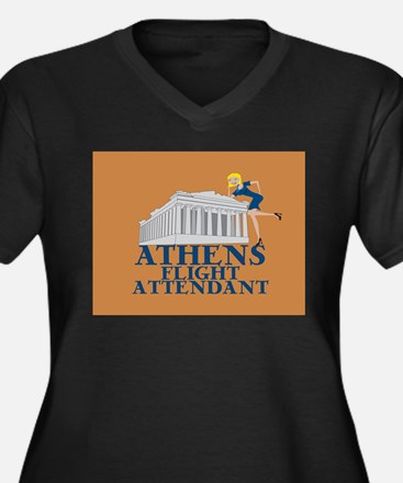 Athens FA Women's Plus Size V-Neck Dark T-Shirt