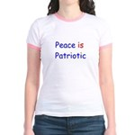 Peace is Patriotic Jr. Ringer T-Shirt