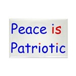 Peace is Patriotic Rectangle Magnet (10 pack)