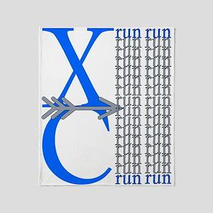XC Run Blue Gray Throw Blanket