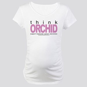 Testicular Cancer Think Orchi Maternity T-Shirt